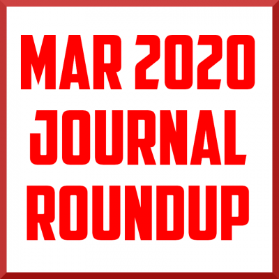 March 2020 Journal Roundup