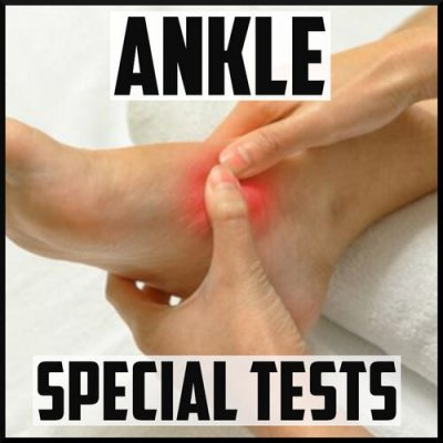 ankle special tests cover