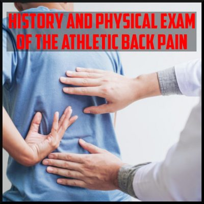 history and physical examination of the back cover