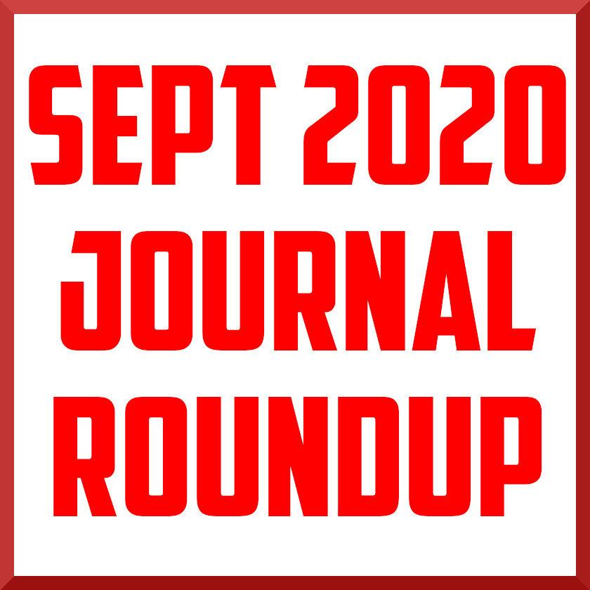 September 2020 journal roundup
