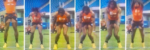 Robert Griffin III at the NFL Combine ACL prevention