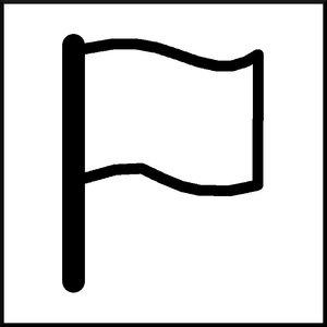 blank flag illustration