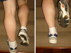 calf stretch example for plantar fasciitis