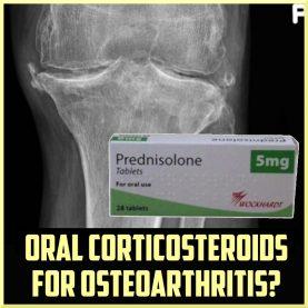 oral corticosteroids for osteoarthritis OA cover
